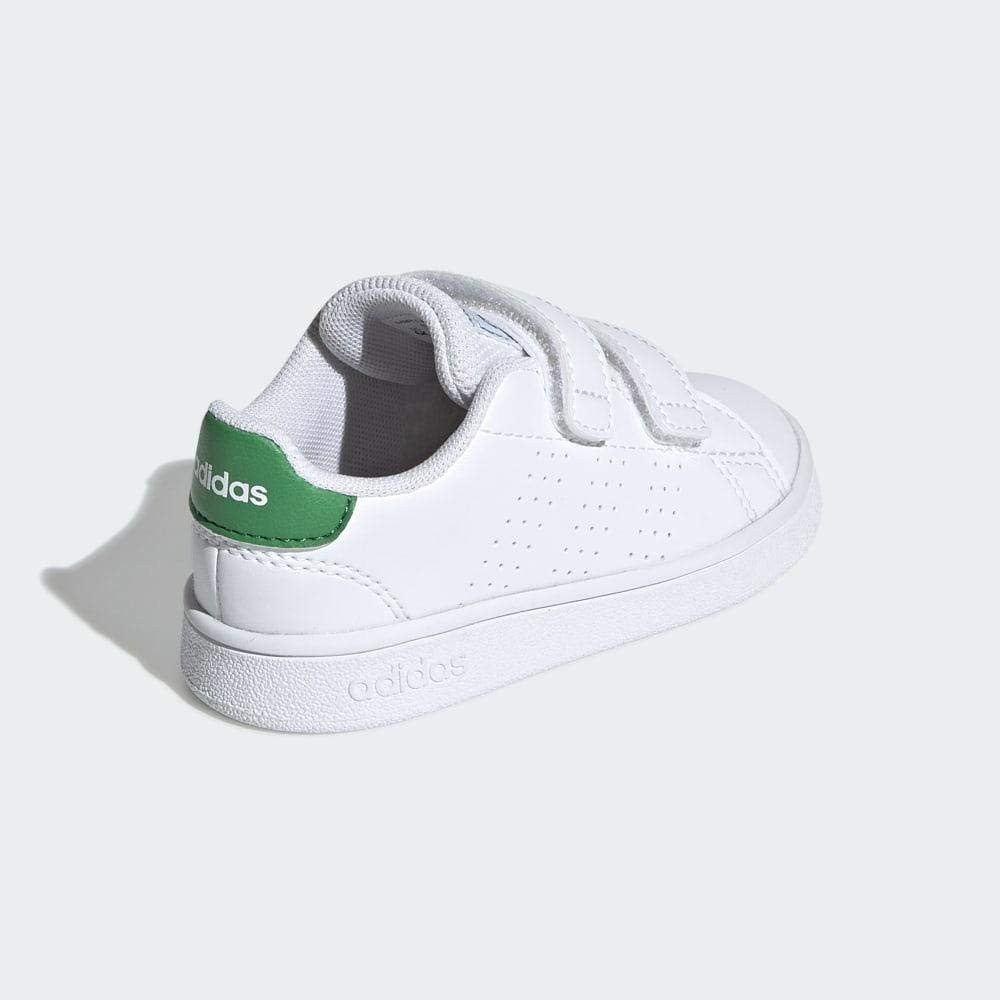 Wei/ß adidas Unisex Baby Advantage I Hausschuhe