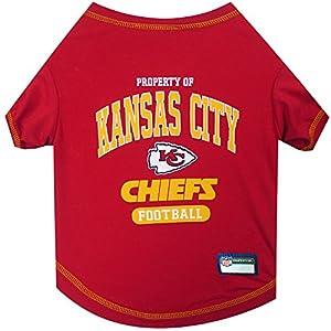 NFL KANSAS CITY CHIEFS Dog T-Shirt, Medium