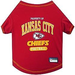 NFL KANSAS CITY CHIEFS Dog T-Shirt, Medium. - Cutest Pet Tee Shirt for the real sporty pup