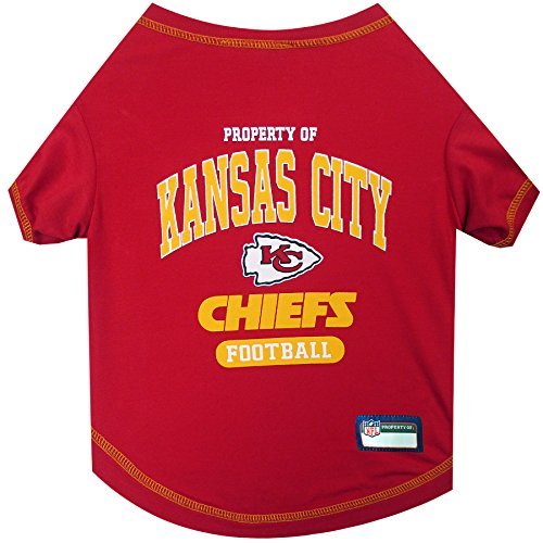 (NFL KANSAS CITY CHIEFS Dog T-Shirt, Small. - Cutest Pet Tee Shirt for the real sporty pup)
