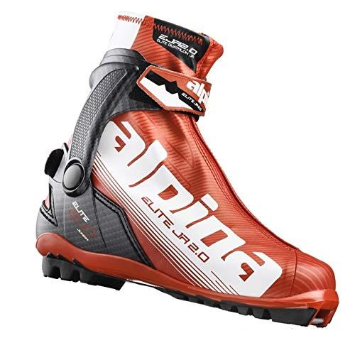 Alpina ED 2.0 Jr Nordic Race Boot - 38 - Red/White/Black (Alpina Junior Ski Boots)