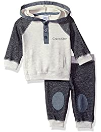 Baby Boys' Color Block Hooded Pullover with Pants Set