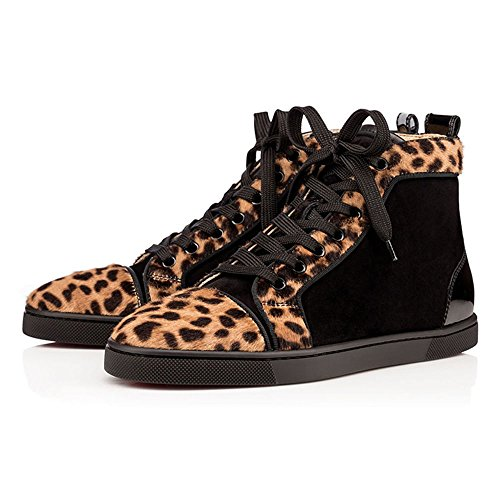 LIGHTBACK High Top Boot Sneakers Lace Up Fashion Shoes For Men Leopard tOil4ACn