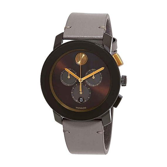 Movado Bold Reloj de hombre cuarzo 44mm correa de cuero caja de 3600445: Amazon.es: Relojes