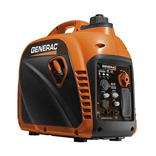 Generac 7117 GP2200i 2200 Watt Portable Inverter Generator - Parallel Ready (Best Generator For Tailgating)