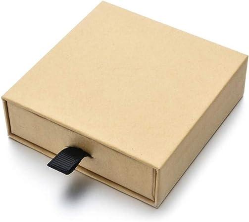 EyeMsea Caja de Papel Kraft Cuadrada con cajón, Caja de Regalo para Joyas, Pulseras, Pulseras, Cajas de Esponja para exhibir, M, Medium: Amazon.es: Hogar