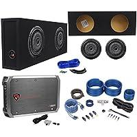 2) Kicker 43CVT102 COMPVT 10 1600W Subwoofers+Sealed Box+Mono Amplifier+Amp Kit