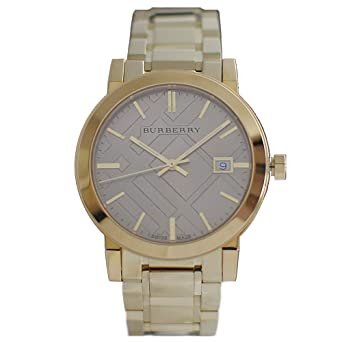 Amazon.com  Burberry The City Champagne Dial Gold-tone UnisexWatch ... d42afc4957d