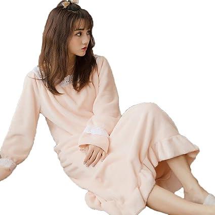 GSS-Abrigos Albornoz para Mujer Batas De Baño Pijamas Faldas Moda De Lujo Servicio Suave