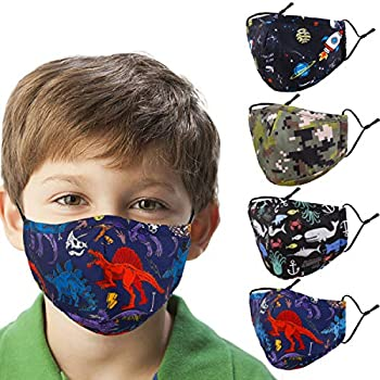 Woplagyreat Youngsters Cute Face Masks Design Reusable Washable Madks Facemask with Adjustable Earloops Reward for Youngsters