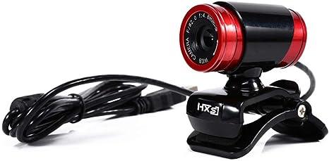 QAIYXM Cámara Webcam de Alta definición PC con la absorción del Mic del micrófono para Skype para Android TV cámara rotativa del Ordenador Web CAM para PC portátil Smart Box Webcam USB,E: