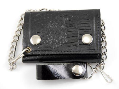 - Biker Chain Wallet Genuine Leather