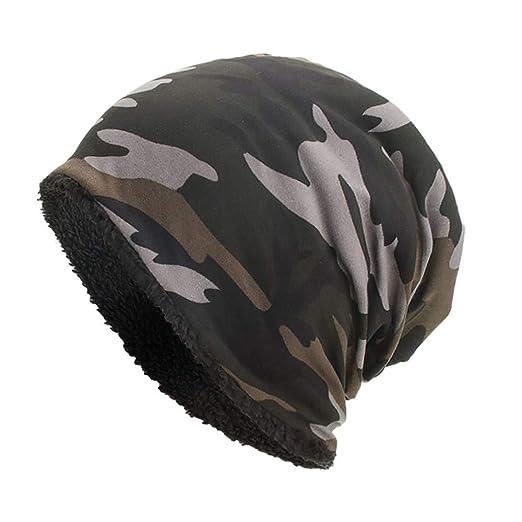 28a6d55bf8981 TWGONE Womens Wrap Cap Men Warm Baggy Camouflage Crochet Winter Wool Ski  Beanie Skull Caps Hat