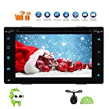 In Dash Double 2 din Car DVD Player Automotive Android 6.0 Marshmallow Car Stereo System supports WiFi/3G/4G/OBD2/Mirrorlink/Bluetooth fm/am /rds Car Radio Receiver GPS Navigation with Map Rear Camera