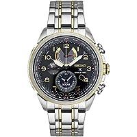 Seiko Prospex World Time Solar Chronograph Silvertone Men's Watch