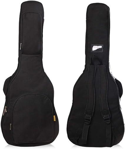Estuche de guitarra para 38/39/40/41, estuche de guitarra acústica y clásica en pulgadas, estuche de guitarra impermeable extra grueso de esponja de 20 mm, estuche para mochila de guitarra suave con d: