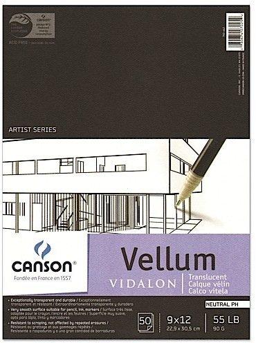 Canson Vidalon Tracing Vellum (9 In. x 12 In.) 1 pcs sku# 1831762MA