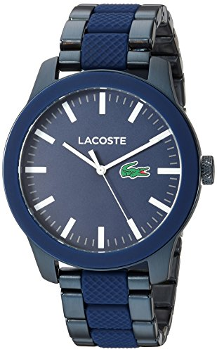 Lacoste Men's 'LACOSTE.12.12' Quartz Stainless Steel Casual Watch, Color:Silver-Toned (Model: 2010922)