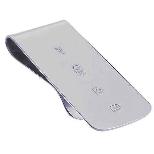 Pinza Clip Porta Billetes, con Sello, de Plata de Ley: Amazon.es: Joyería