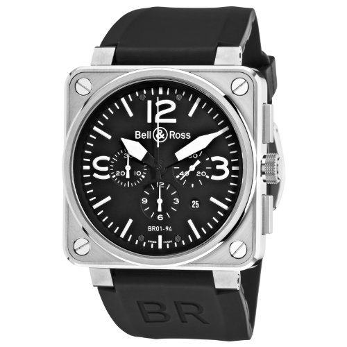 Bell-Ross-Mens-BR-01-94-STEEL-Aviation-Black-Chronograph-Dial-Watch-Watch
