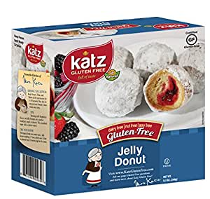 Katz Gluten Free Jelly filled Donuts, 8.5 Ounce, Certified Gluten Free - Kosher - Dairy, Nut & Soy free - (Pack of 1)