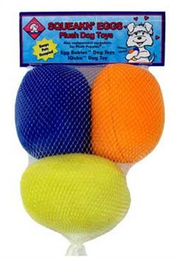 Outward Hound Kyjen  31016 Squeakin' Eggs Egg babies Replacement Dog Toys Squeak Toys 3-Pack, Large, Multicolor