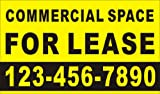 Alice Graphics 3ftX5ft Custom Printed COMMERCIAL SPACE FOR LEASE Banner Sign with Your Phone Number