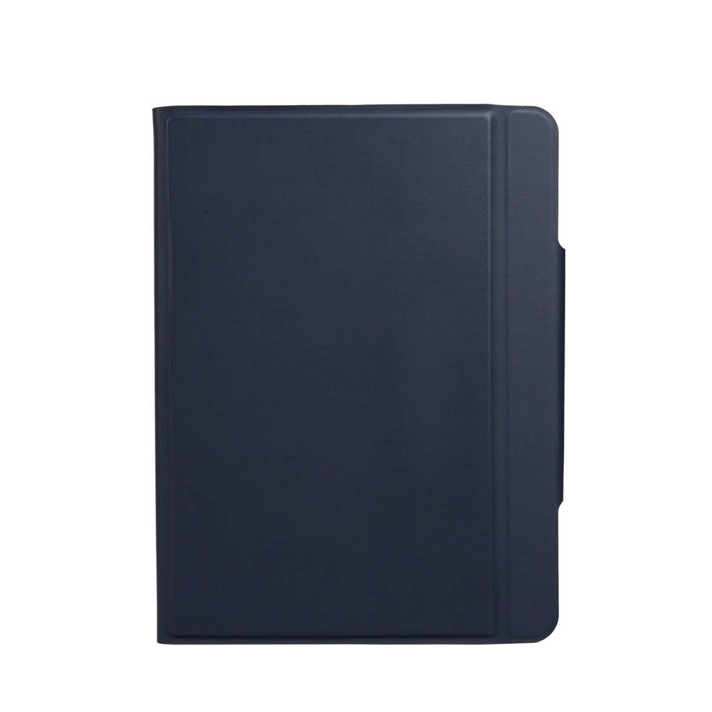 Sonmer Luxury Slim Leather Bluetooth Keyboard Stand Case For iPad Pro (Blue, iPad Pro 11 inch)