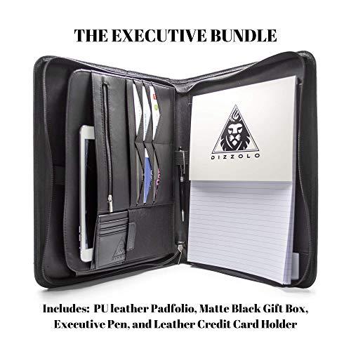 Professional Zippered Leather Padfolio Portfolio
