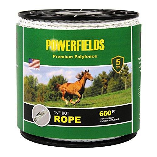 Powerfields EWHR-660 Hot Rope, 660-Feet, White ()