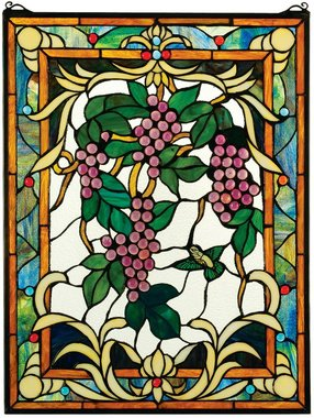 Peaceful Garden Vineyard Stained Glass Window home decor (The Digital Angel)