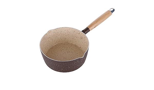 SDS-COM Fondo plano antiadherente pequeño olla de leche mini-pan fideos hervidos leche caliente hervida olla de gachas de avena: Amazon.es: Hogar