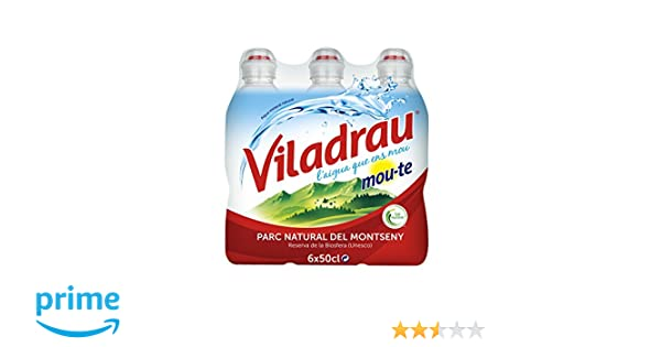 Viladrau Tapón Sport Mou Agua Mineral Natural - Pack de 6 x 0,5 l - Total: 3000 ml: Amazon.es: Amazon Pantry