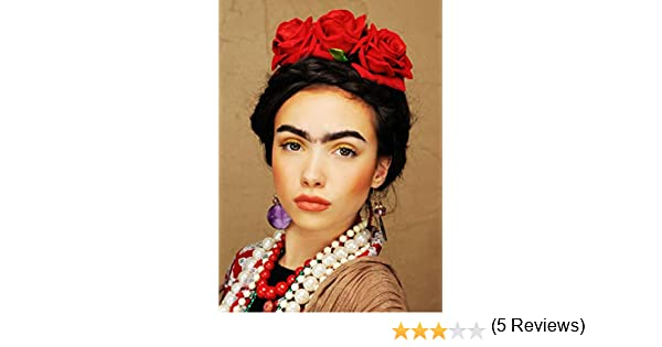 Magic Box Diadema de Flores para Mujer Frida Kahlo Estilo Rosa ...