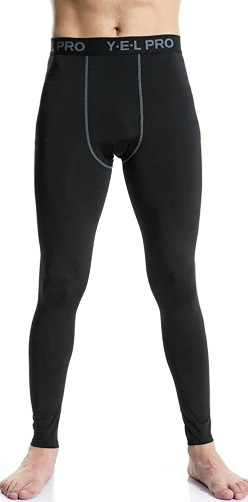 Ffox Mens Compression Dry Running Sports Tights Pants