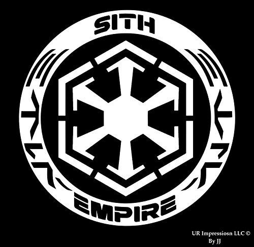 Sith Empire Star Wars Inspiredデカールビニールsticker|cars Trucks壁ノートパソコンtablet|white|5.5 in|jjuri002   B0762FBWSZ