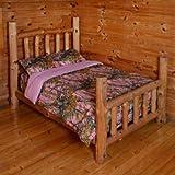 Pink Woodland Camo 4 Piece Comforter,sheet, and Pillowcase Set - Twin -