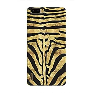 Cover It Up - Brown Zebra Black Honor 6 Plus Hard Case