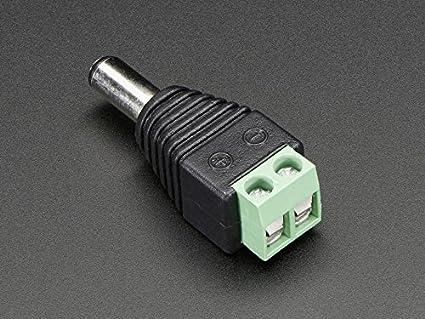 DC Stecker Hohlstecker 2,1 mm Adapter Terminal Block Netzteil Schraubbar 2-20Stk