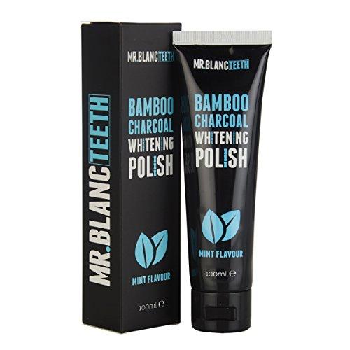 Mr Blanc Teeth ™ | Teeth Whitening Polish - Natural Teeth Whitening - Charcoal Toothpaste - Professional Teeth Whitening