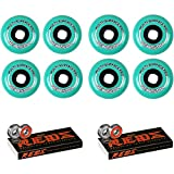 Revision Wheels Inline Roller Hockey Multi Surface 76/80mm 84A Hilo + Bones Bearings
