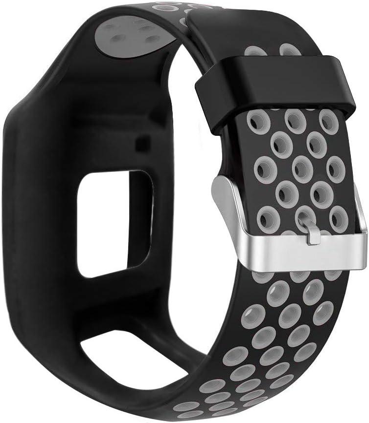 BASSK Reemplazo de Pulsera de Correa de muñeca de Silicona Reemplazo para Tomtom 1 Multi-Sport GPS HRM CSS Am Cardio Runner Accesorios de Reloj