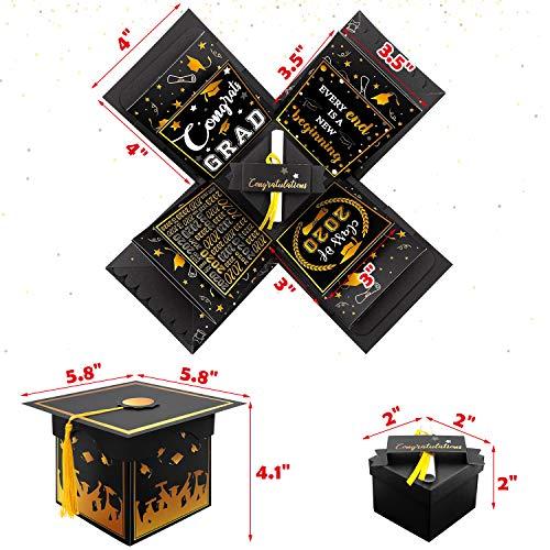 Yaaaaasss! Graduation Explosion Box Graduation Cap Gift Box with Yellow Tassel Photo Album Box for 2020 Graduation…