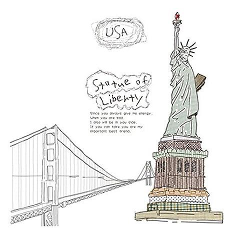 eDealMax estatua del patrón de la libertad ventana de la sala Arte de la etiqueta engomada