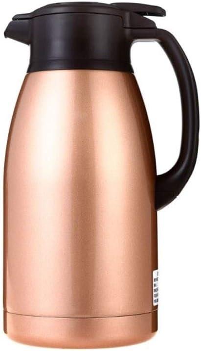 TPXR 断熱ポット、ステンレス鋼の真空断熱材ロックコールドポット、ホームオフィスコーヒーポット、取り外し可能なボトルキャップ、簡単にきれいな、健康 (Color : Metallic) Metallic