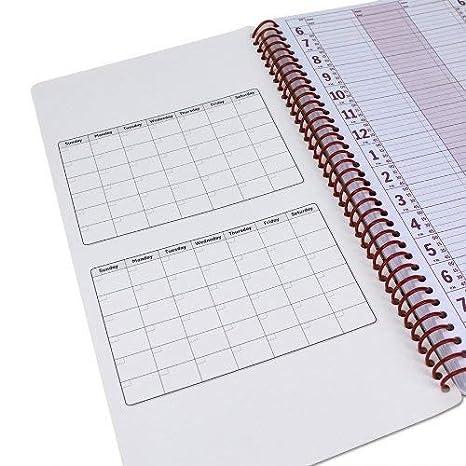 Salón cita libro (2 columnas/200 páginas) – sin fecha, dos persona día y hora Calendario portátil para masaje Spas, peluquería, Estilismo, y salones ...