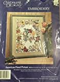 Candamar Designs Embroidery Kit 80243 ''American Floral Picture''