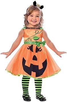Generique - Disfraz Calabaza niña 4-6 años (104/116): Amazon.es ...