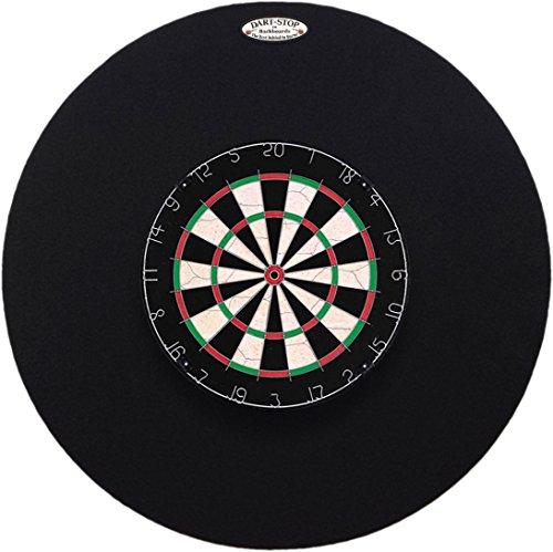 36'' Professional Dartboard Backboard, Round (Black) by Dart-Stop