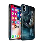 Official Elena Dudina Phone Case / Matte Hard Back Snap-On Cover for Apple iPhone X/10 / Water/Baby Design / Dragon Reptile Collection
